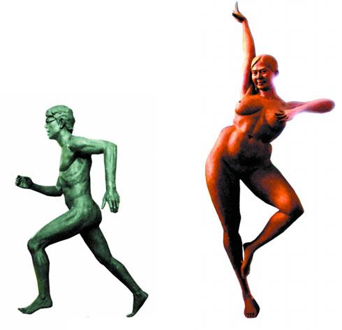 中国首个 雷人公园 范跑跑芙蓉姐姐成雕塑
