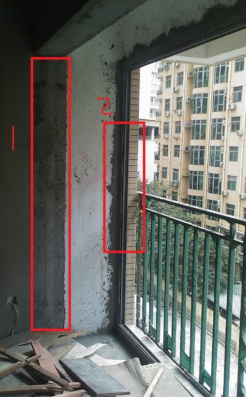 客厅的落地玻璃窗全部往外推,紧贴阳台