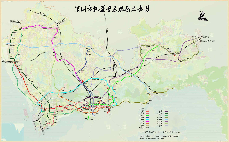 深圳地铁线路图高清图片