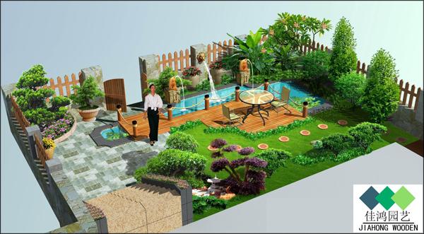 阳台,庭院,屋顶花园,园艺防腐木厂家为你专业设计打造