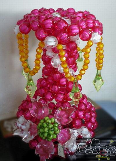 手工串珠花瓶图解 视频
