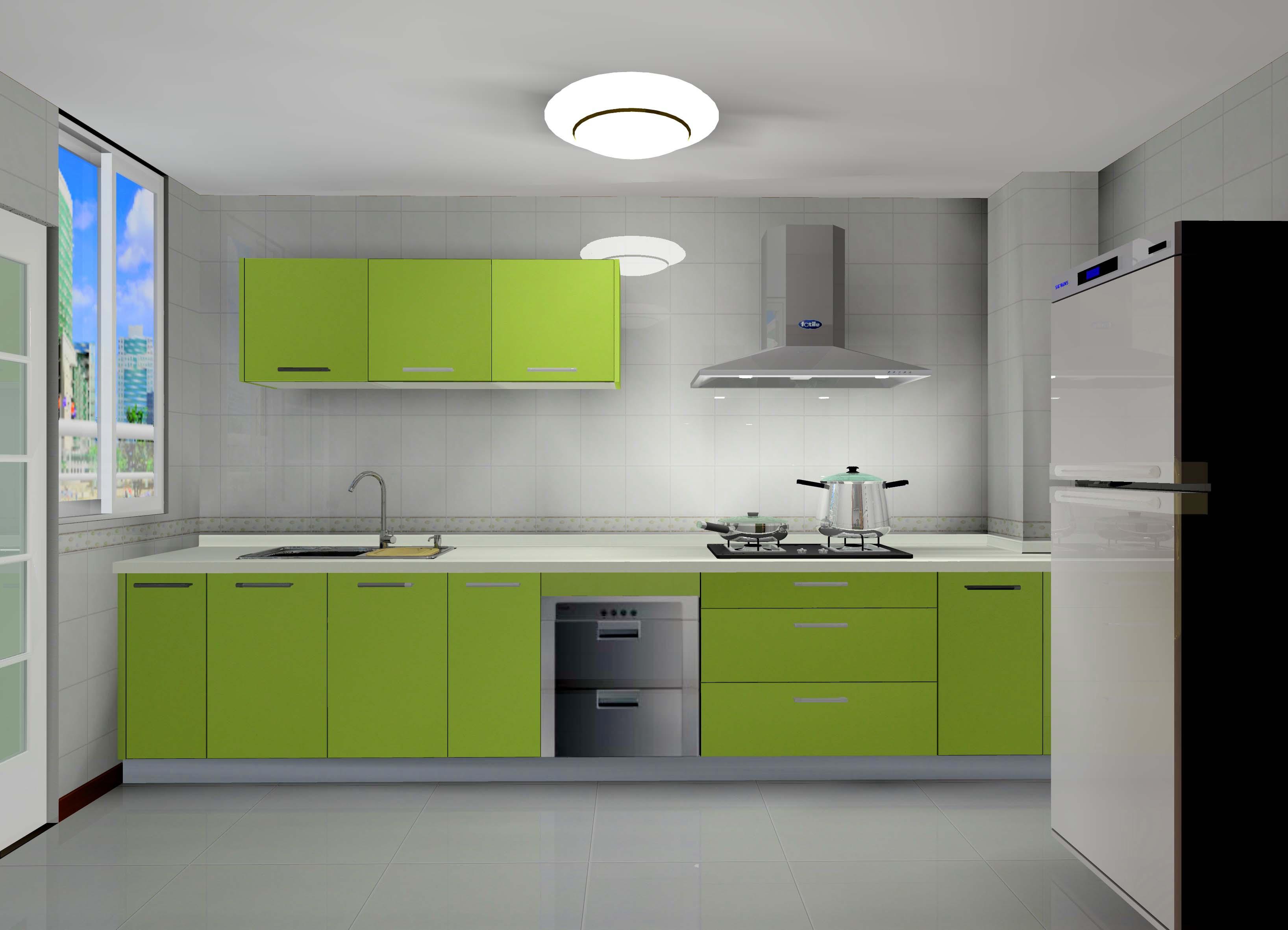 00㎡-厨房装修效果图; 我家橱柜效果图