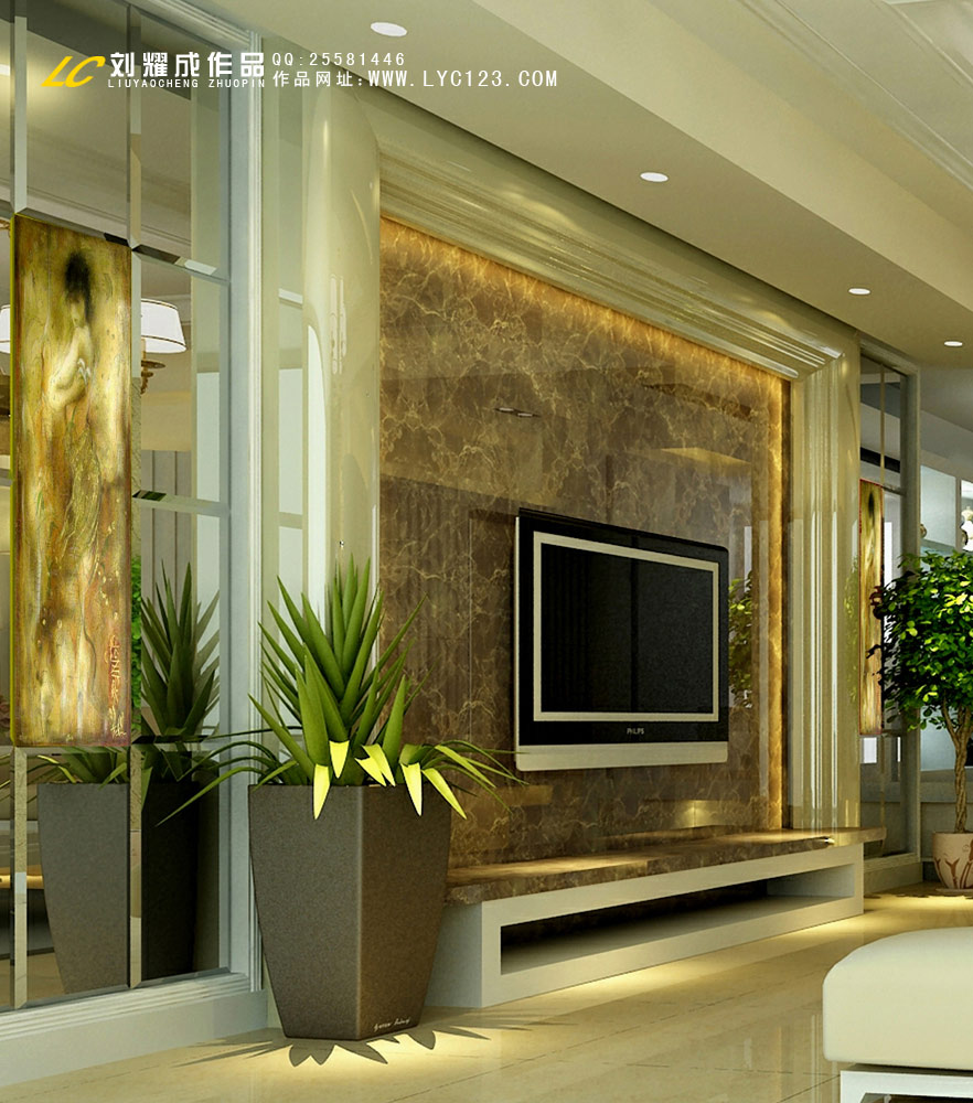 > 室内设计师中了500万的遐想之三现代欧式风格