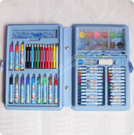 油画棒水彩笔削笔机笔盒笔袋橡皮泥剪刀折纸填色册