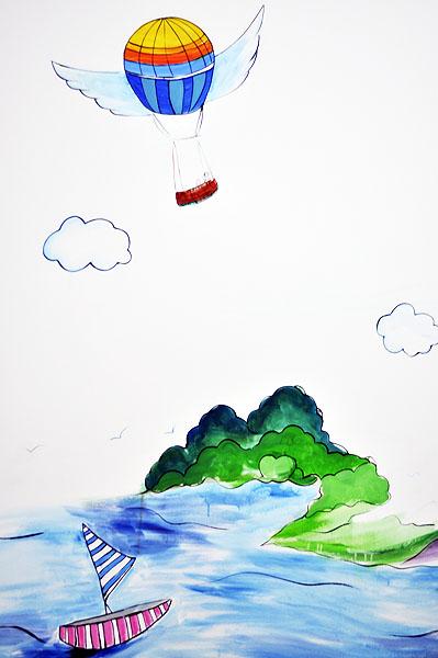> 爱上手绘墙——菩提树创意工作室