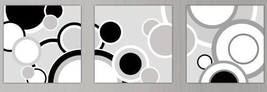 面黑白装饰画图片 平面构成点线面黑白图,点线面黑