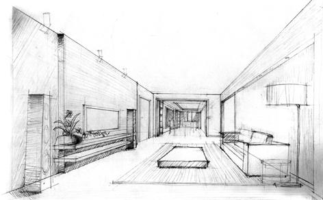 展厅手绘设计图 简约
