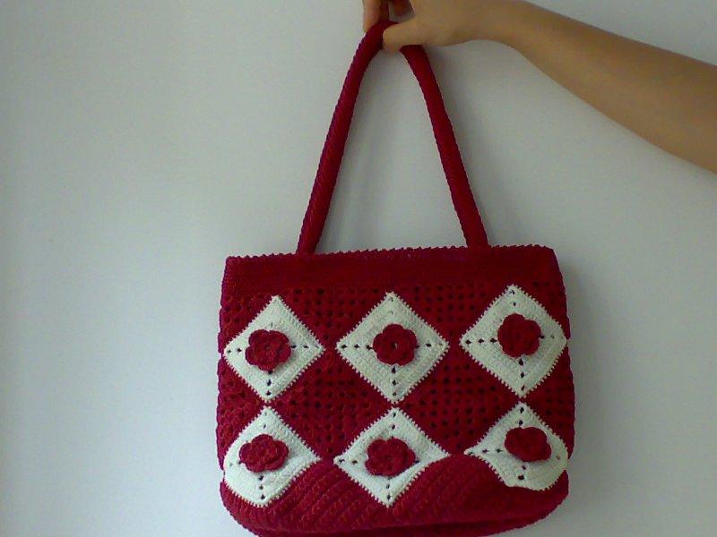 妈妈做的手工包包:串珠+编织