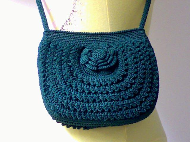 勾织包包3 妈妈做的手工包包 串珠 编织