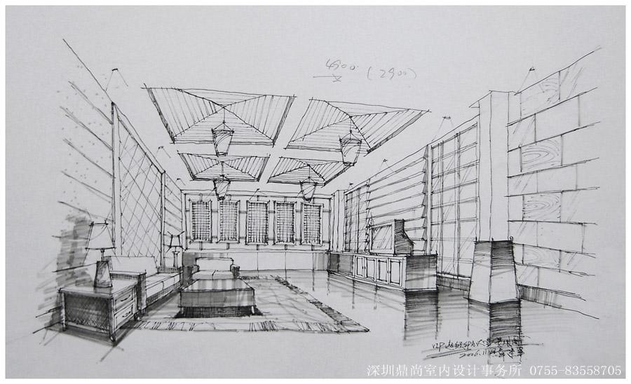 商业空间手绘设计图-------------------------鼎尚