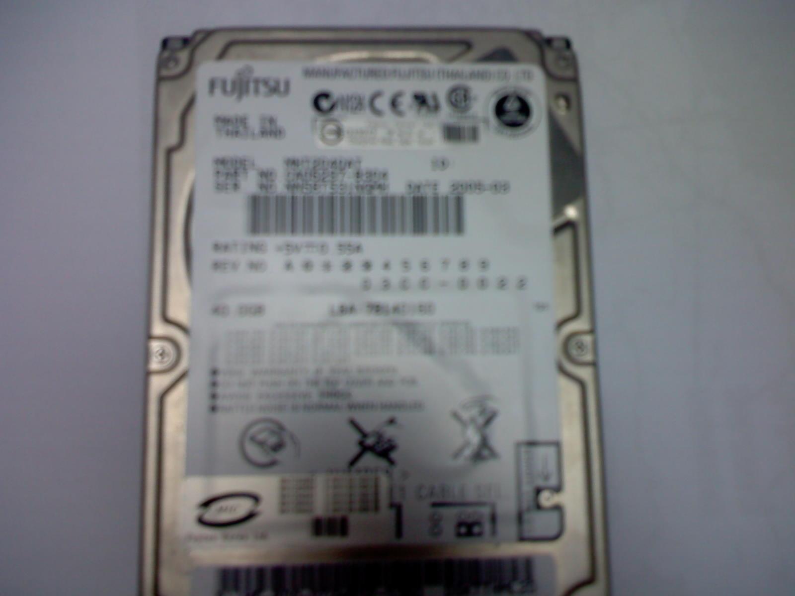 富士通移动硬盘 pata接口 2.5寸 40g