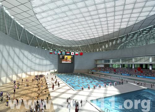 > 深圳湾体育馆最新建设进展,钢架都已经建成了!