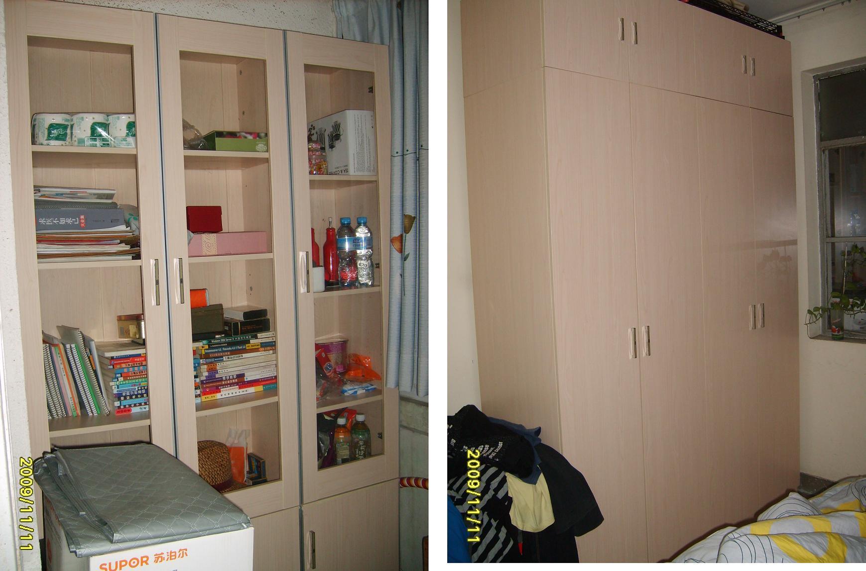 衣柜+书柜+梳妆台