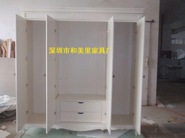 ! 给大家来个4门衣柜的内部结构图片 4门衣柜规格: