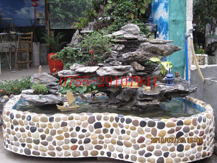 自制假山流水喷泉步骤_假山流水喷泉风水轮图片