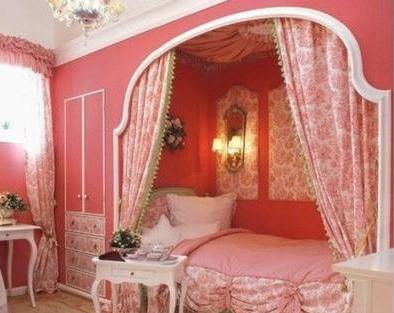 欧式粉色房间图片大全
