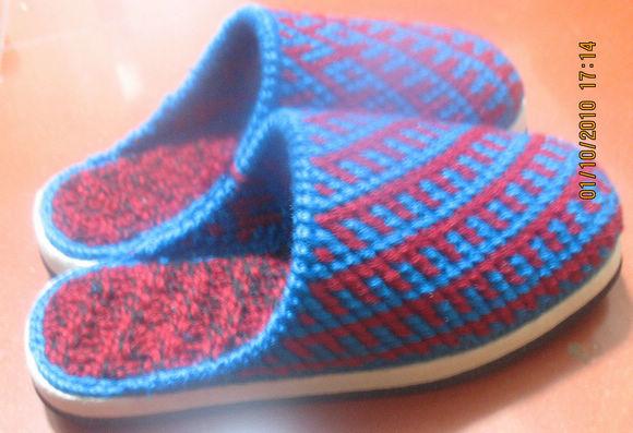 【多图】毛线手工钩拖鞋; 钩鞋子图案-31;