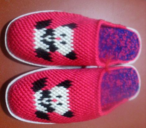 秋冬家居必备--毛线拖鞋-纯手工钩制编织(保暖,舒适,耐穿,5年不变形)
