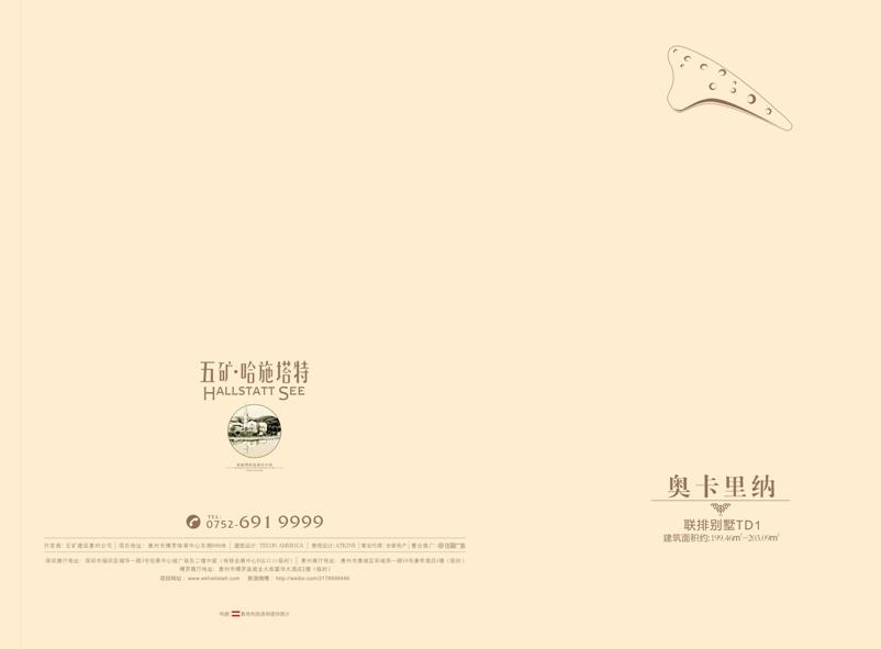 【五矿哈施塔特】『联排别墅td1户型图』全网首发!