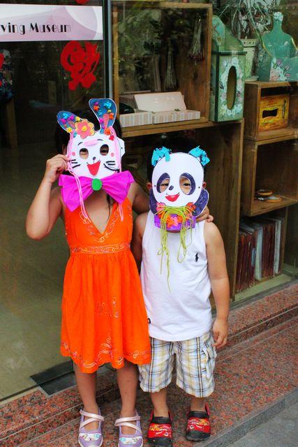 蛇口亲子活动 动物面具的制作装饰