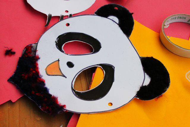 熊猫面具图案