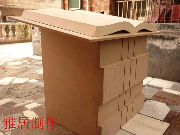 木工制作书模施工现场及完工图