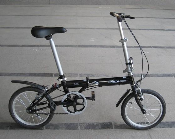 全新黑色dahon大行折叠自行车转让