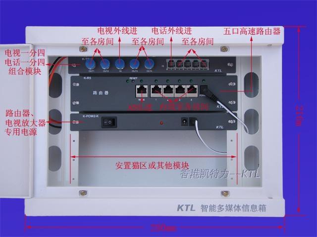 > 凯特力牌 弱电箱 光纤入户信息箱 墙壁开关插座