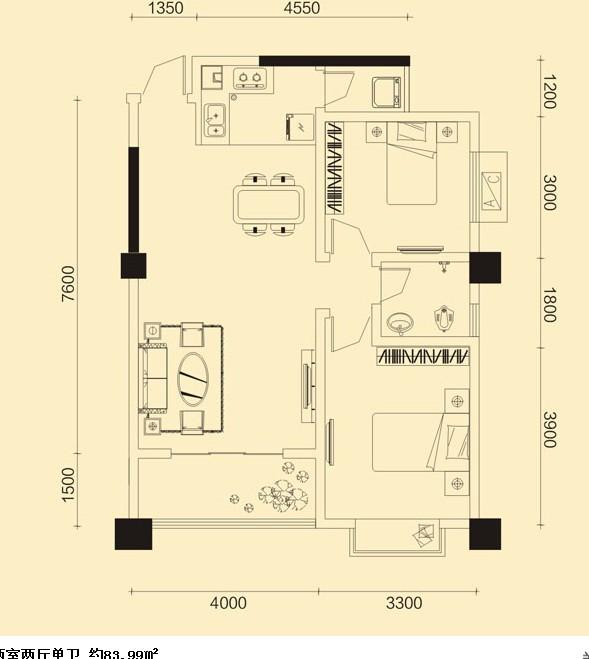 84平方房子求装修