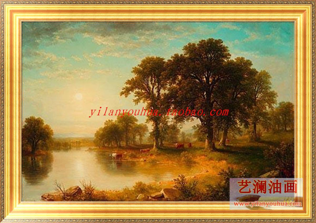 欧式茶室油画图片欣赏