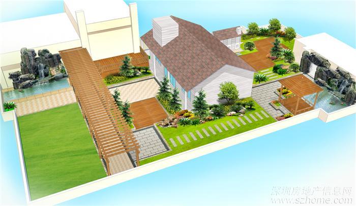 屋顶花园的绿化布置