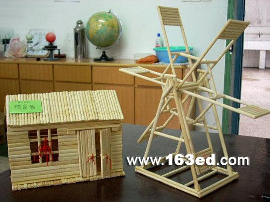 小屋和风车—儿童手工制作网.图片