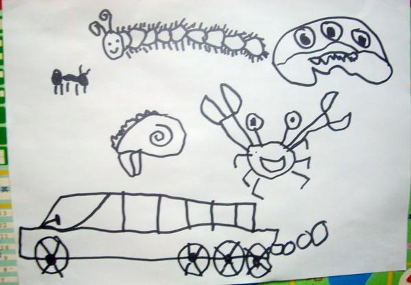 儿童画 简笔画 手绘 线稿 600_416