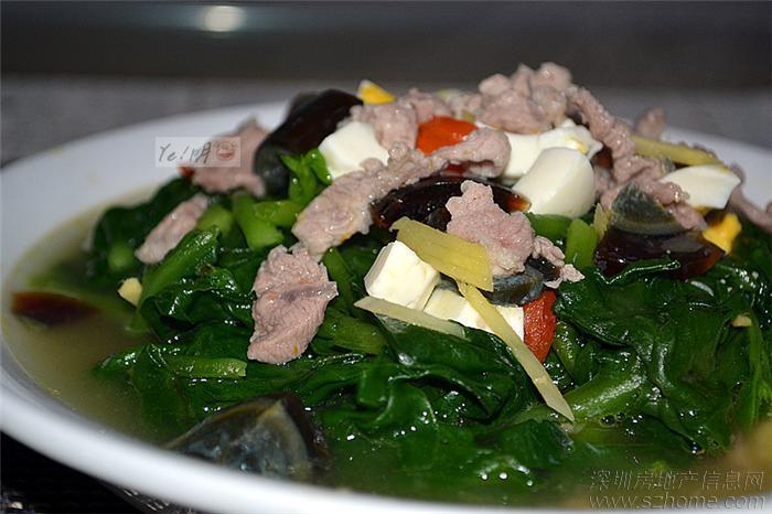> ye!明猪--荷叶虫草花蒸鸡,香辣小鱼干,上汤蚕菜,凉拌蕨根粉,杂菌汤