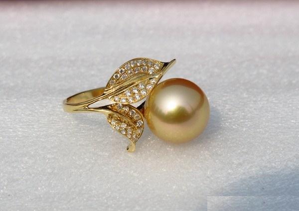 11-12mm南洋金珠戒指———阳光雨露图片