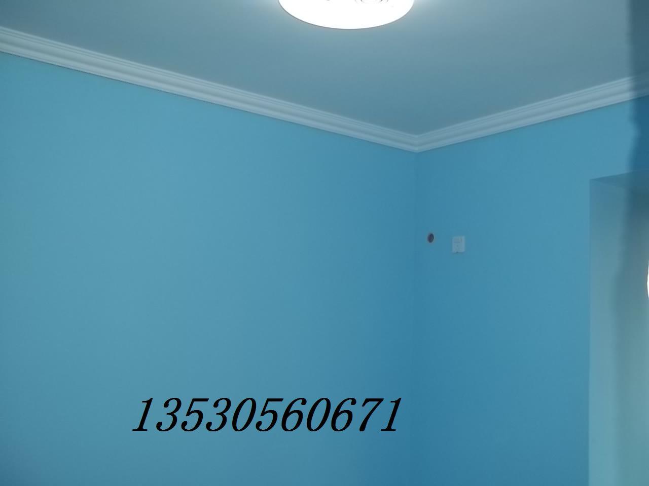 客厅蓝色刷漆图片