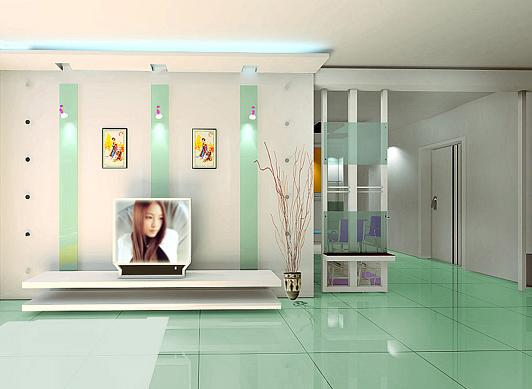 参考影视墙与吊顶的链接,窗帘的质感 经典家装效果推荐一 高清图片