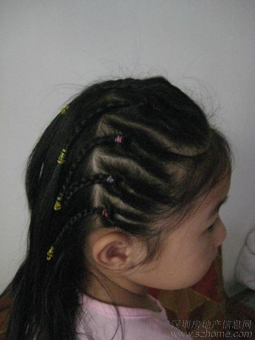 小孩 小辫子 发型 步骤