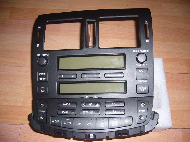 13代丰田皇冠cd面板+空调控制面板