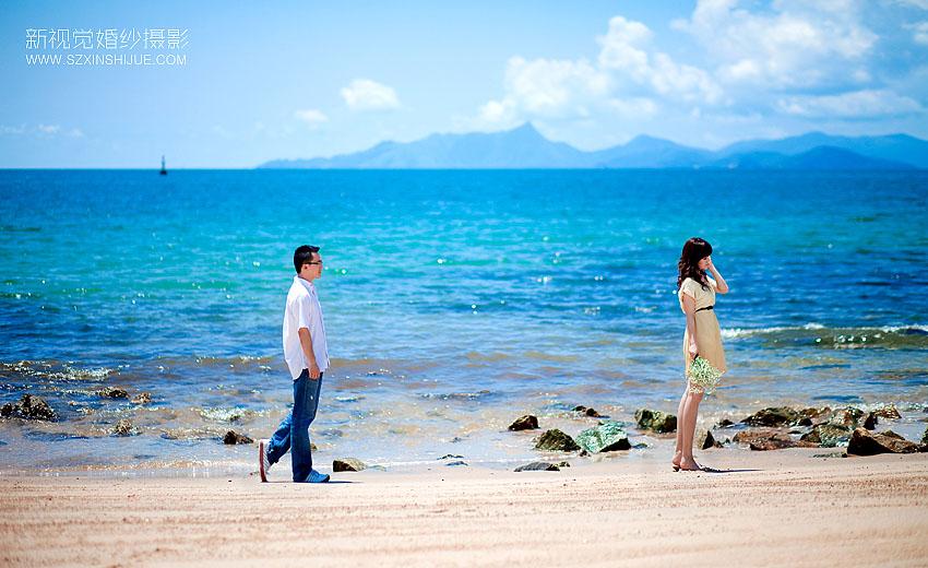 【深圳浪漫海景】:南澳; 玛格映画摄影会所; 个性婚纱摄影,每个新人的