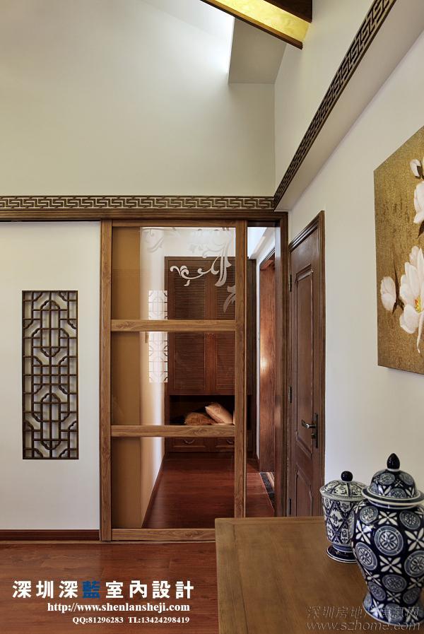 防腐木花架,墙上的木格