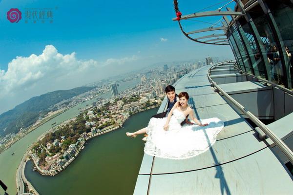澳门观光塔,338米高度成为全亚洲最高旅游蹦极跳塔
