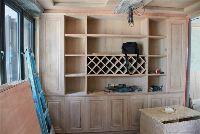 欧式木工装修酒柜效果图