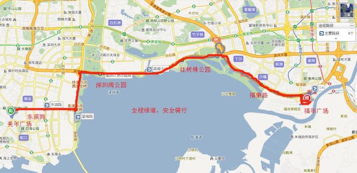 大连滨海路路线