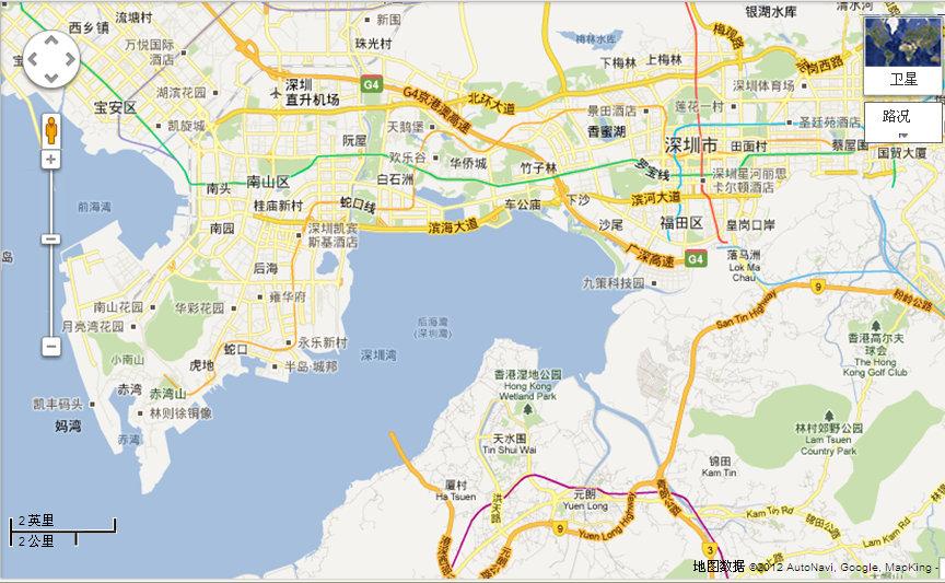 深圳湾区域划分原则