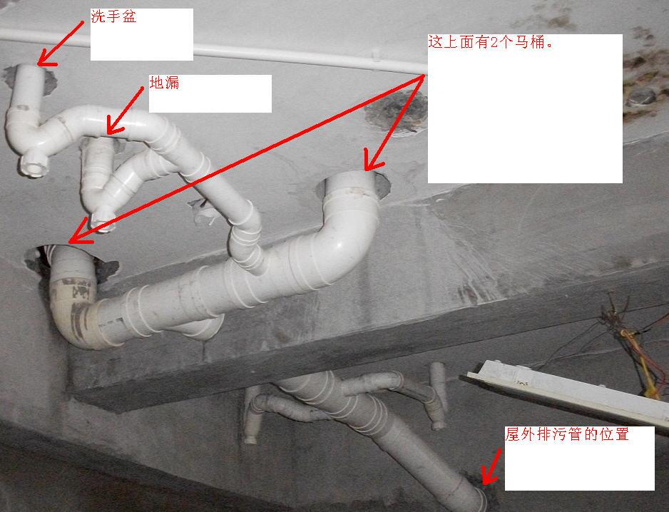 马桶,下水管安装问题请教
