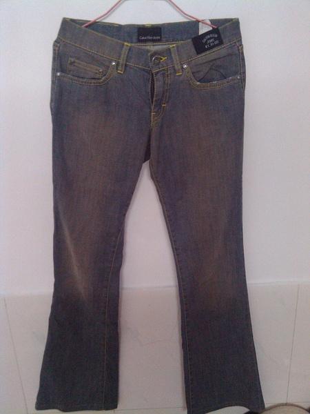 CK专柜正品,26码,蓝灰色牛仔裤, -全部40