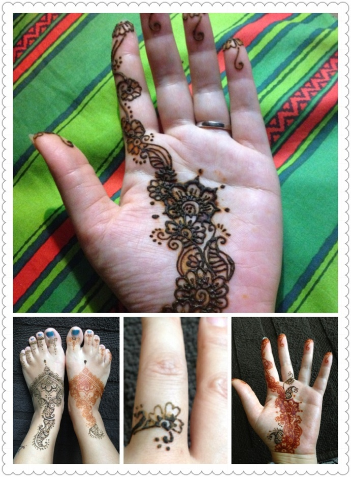 海娜印度植物纹身