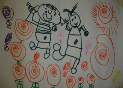 我爱我的家儿童亲子绘画