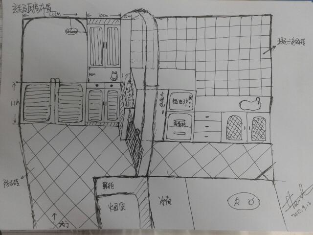 玄关室内手绘图